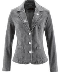 bpc selection Blazer en jean gris manches longues femme - bonprix
