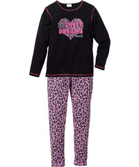 bpc bonprix collection Pyjama (Ens. 2 pces.), T. 128/134-176/182 noir enfant - bonprix
