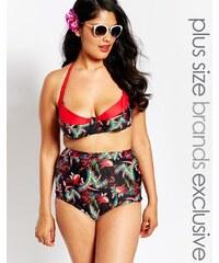 Big Guns for ASOS - Top de bikini dos nu forme bustier - Noir