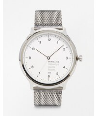 Mondaine - Helvetica - Uhr mit Netzarmband - Silber