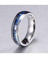 Lesara A.Angelini Herren-Ring mit blauem Carbon - 65