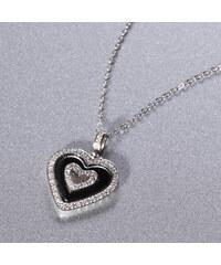 Lesara A.Angelini Halskette mit Keramik-Herz-Anhänger