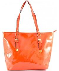 Červená lesklá kabelka na rameno Billeni Romina 3042