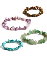 Lesara Armband aus Mineralsteinen - Violett