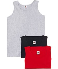 Fruit of the Loom Herren, Unterhemd, Athletic Vest 3 pack