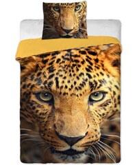 Jerry Fabrics Povlečení bavlna fototisk - Leopard 2015 1x 140/200, 1x 90/70