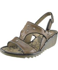 Sandálky na klínu FLY London Orange Odum P500545002