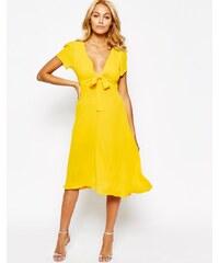 HUSH HUSH Vzdušné žluté šaty