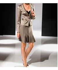 Designerská hedvábná sukně s flitry tmavošedá