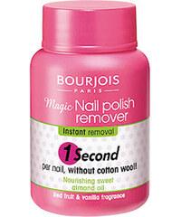 Bourjois Paris 1 Second Magic Nail Polish Remover 75ml Odlakovač na nehty W Pro rychlé odlakování nehtů