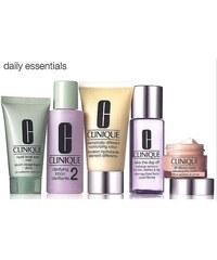 Clinique Daily Essentials Dry Combination Skin dárková sada W - 50ml DDML + 15ml All About Eyes + 30ml Liquid Facial Soap Mild + 60ml Clarifying Lotion 2 + 50ml Take the Day Off Makeup Rem Suchá smíše