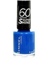 Rimmel London 60 Seconds Super Shine Nail Polish 8ml Lak na nehty W - Odstín 823 Blindfold Me Blue