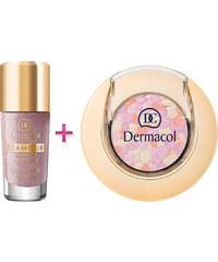 Dermacol Glamour Nail Polish dárková sada W - 9ml Glamour Nail Polish 200 + 1,8g Glamour Eyeshadow 2