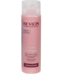 Revlon Keratin Repair Shampoo 1250ml Šampon na poškozené, barvené vlasy W Pro regeneraci a výživu vlasů