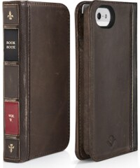Pouzdro / kryt pro Apple iPhone 5 / 5S / SE - TwelveSouth BookBook, hnědý
