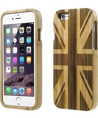 iPouzdro.cz Pouzdro / kryt pro Apple iPhone 6 - dřevěný, Britská vlajka - VÝPRODEJ
