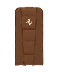 Pouzdro / kryt pro Apple iPhone 6 / 6S - Ferrari, 458 Flip Camel Gold