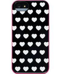 Pouzdro / kryt pro Apple iPhone 5 / 5S / SE - Agent18, Black/White Hearts - VÝPRODEJ