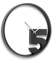 Nástěnné hodiny TAKE 5 černé Umbra