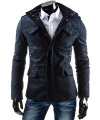 streetIN Pánský kabát - modrá Velikost: 2XL