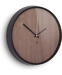 Nástěnné hodiny MADERA černé Umbra
