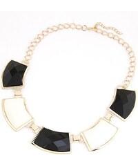 BAGISIMO Černo bílý náhrdelník