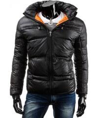 streetIN Zimní bunda z lesklého materiálu s kapucí - černá Velikost: L