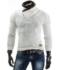 streetIN Bílý pánský svetr s vysokým límcem Velikost: L