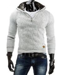 streetIN Pánský svetr - bílá Velikost: 2XL