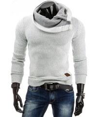 streetIN Bílý pánský svetr s širokým límcem Velikost: M
