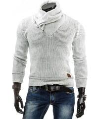 streetIN Bílý pánský svetr s vysokým límcem Velikost: M