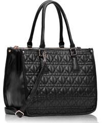 LS fashion LS dámská prošívaná kabelka 215A černá