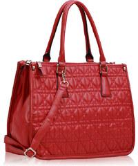 LS fashion LS dámská prošívaná kabelka 215A červená