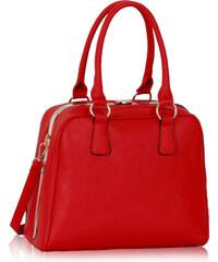 LS fashion LS dámská kabelka se zlatým rámem 299 červená