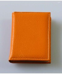 Katana Vizitkář - dokladovka na karty kožená - oranžová