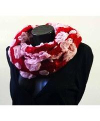 My Butterfly Stylová šála - chomout pašmína červená + růžová
