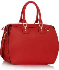 LS fashion LS dámská oblá kabelka 99A červená