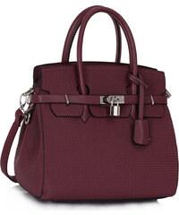 LS fashion LS dámská kabelka ala birkin 140 fialová