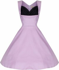 Lindy Bop retro šaty Ophelia růžové (cukrová vata) velikosti: 36