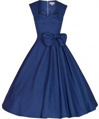 Lindy Bop retro šaty Grace Midnight Blue velikosti: 40