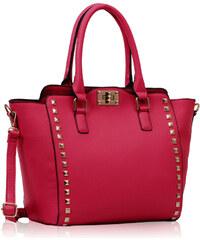 LS fashion LS dámská kabelka 92A fuchsiově růžová