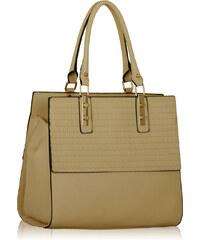 LS fashion LS dámská elegantní kabelka 257 nude