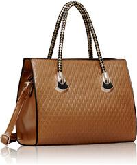 LS fashion LS dámská kabelka se zlatými držadly 113 nude