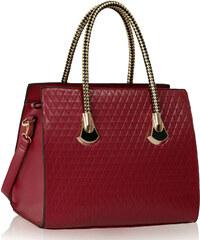 LS fashion LS dámská kabelka se zlatými držadly 113 bordó