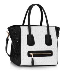 LS fashion LS dámská kabelka 0288 černo-bílá