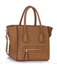 LS fashion LS dámská kabelka 0288 světle hnědá