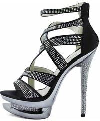 LS fashion LS dámské lodičky na dvojité platformě 00128 černé Velikost: EUR 37