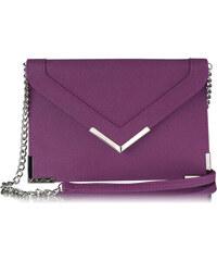 LS fashion Dámská společenská kabelka 00179 fialová