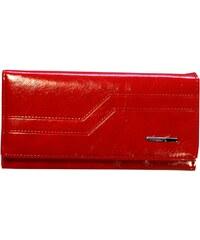 New berry Peněženka syntetická červená zipová