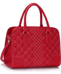 LS fashion LS dámská prošívaná kabelka 316 červená